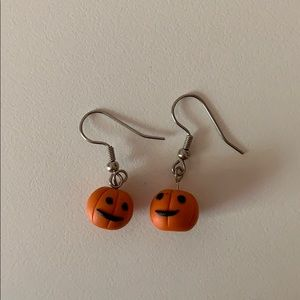 Jack O Lantern Pumpkin Halloween Earrings